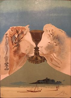 Here's one by the great surrealist, Salvador Dali. I have been personally unable to find any other copies of this lithograph for sale--so Cascade Art Gallery is certainly fortunate to have obtained this one! Of course, as with all our art, you could be the next to house this unique work of art.