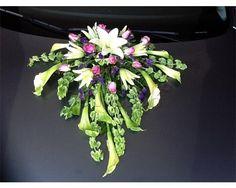 Florería Paulette / decoración floral para autos de la boda