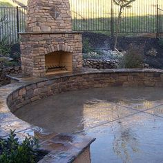 Stamped Concrete Patio Deck/ Fireplace