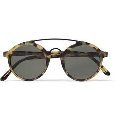 R Calabar Matte-Acetate Round-Frame Sunglasses Ray Ban Sunglasses Outlet, Sunglasses Online, Oakley Sunglasses, Man Sunglasses, Sunnies, Round Frame Sunglasses, Mens Glasses, Handbags Michael Kors, Stylish Men