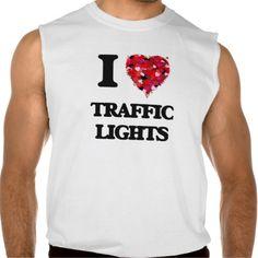 I love Traffic Lights Sleeveless Shirt Tank Tops