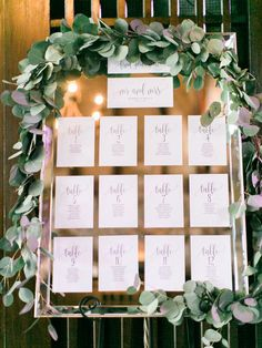 Beautiful ceremony Greenery flowers bohemian weddinginspiration wedding mariage decoration seating chart plan de table