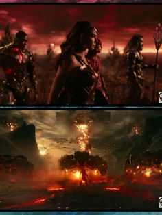 Invasion by Steppenwolf in Justice League