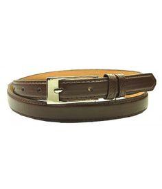 """0.75"""" Wide Brown Narrow Dress Lady's Belt"""
