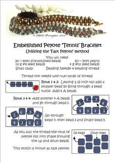 Embellished Peyote 'Tennis' Bracelet Tutorial must try! @ecrafty #ecrafty #diybracelets #braceletsupplies
