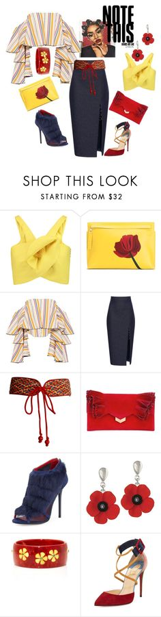 """Loving This Skirt"" by dancingwithfitness ❤ liked on Polyvore featuring Delpozo, Loewe, Caroline Constas, Cushnie Et Ochs, Yves Saint Laurent, Jimmy Choo, Charles Jourdan, Mark Davis and Christian Louboutin"