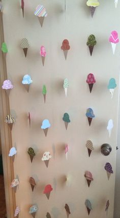 Ice Cream Decoration or Ice Cream Garland for Birthday Party, Ice Cream Party or Backdrop for Photos - Super Cute by MadeWithLoveByAni on Etsy https://www.etsy.com/listing/228321973/ice-cream-decoration-or-ice-cream