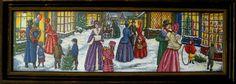 Victorian Christmas Street Scene picture