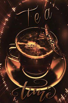 Mimi Gif: Tea Time Good Morning Coffee Gif, Good Morning Picture, Morning Pictures, Morning Gif, Morning Coffee Images, Tea Gif, Tea Puns, Good Evening Greetings, Foto Gif