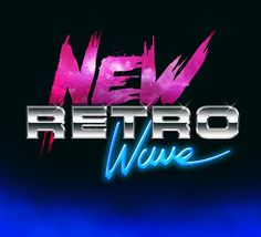 """Overglow - """"New Retro Wave"""" - a great example of a typical #80s looking logo"""