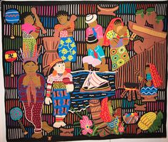 Mola, Kuna Yala, Panama, Saving traditions of our people.  In the exhibit of International and Irish Quilts.