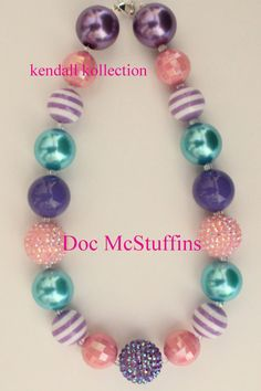 Hey, I found this really awesome Etsy listing at https://www.etsy.com/listing/161780518/doc-mcstuffins-chunky-beaded-necklace