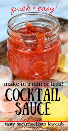 The super easy cocktail sauce recipe you MUST make! Keto cocktail sauce is also a sugar free cocktail sauce. This seafood sauce recipe is a low carb and keto recipe. The best cocktail sauce you can make and you Low Carb Cocktails, Beste Cocktails, Easy Cocktails, Cocktail Recipes, Sauce Cocktail, Homemade Cocktail Sauce, Cocktail Movie, Cocktail Shaker, Low Sodium Cocktail Sauce Recipe