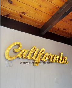 Custom Home Decor Lighted Letter Last Name Sign Custom