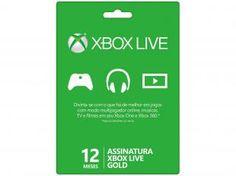 Live Gold Card Microsoft 12 Meses - para Xbox 360 e Xbox One