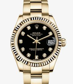 Rolex Datejust 31 Watch: 18 ct yellow gold - 178278