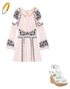 """""""Untitled #7"""" by abbykgirdler on Polyvore featuring For Love & Lemons, GUESS and Forever 21"""