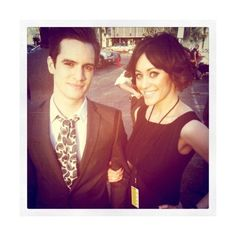 Brendon Urie and Sarah Orzechowski Announce Their Engagement ❤ liked on Polyvore featuring panic at the disco, pictures and pictures - brendon urie