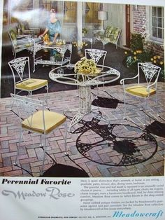 1967 Meadowcraft Meadow Rose ad