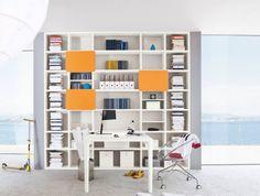 Image result for libreria con scrivania   Libreria   Pinterest   Lofts