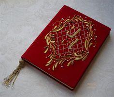 Goldwork Goldwork, Felt Embroidery, Box Art, Book Covers, Blouse Designs, Dots, Sewing, Handmade, Handmade Notebook