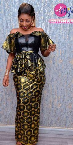 African Fashion Ankara, Latest African Fashion Dresses, African Print Fashion, African Lace Styles, African Dresses For Women, African Wedding Attire, African Attire, Fashion Outfits, Senegalese Styles