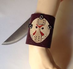 A personal favorite from my Etsy shop https://www.etsy.com/listing/491830700/friday-the-13thjason-mask-cuff