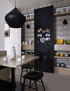 Kitchens with tiles - Decoration, Architecture, Construction, Furniture and decoration, Home Deco Interior Design Elements, New Interior Design, Kitchen Wallpaper, Inspirational Wallpapers, Decorative Tile, Mid Century Modern Design, Architecture, Decoration, Home Kitchens