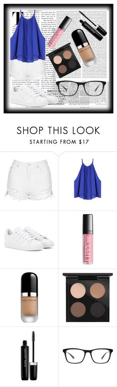 """Untitled #170"" by peaceloveyay ❤ liked on Polyvore featuring Nicki Minaj, Topshop, Oris, adidas, Marc Jacobs, MAC Cosmetics and Joseph Marc"