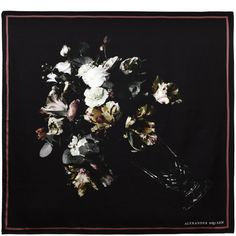 Victorian Floral Still Life Print Silk Twill Scarf Alexander McQueen | Men's Scarf | Ties And Scarves |