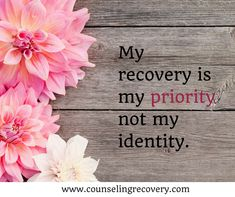 Realize that while being 12 step recovery is important, it's not all of you! As proud and grateful as we are for our recovery, we are not just our recovery.
