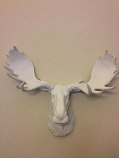 Faux Moose Head SHOP SPECIAL Trophy Mount with by FoundandSouled