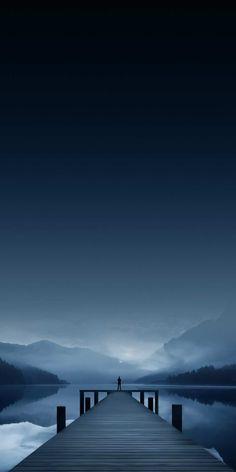 Man At Nature River Pier iPhone Wallpaper - iPhone Wallpapers Whats Wallpaper, Nature Iphone Wallpaper, Night Sky Wallpaper, Wallpaper Space, Beautiful Nature Wallpaper, Cellphone Wallpaper, Anime Scenery Wallpaper, Amazing Wallpaper Iphone, Qhd Wallpaper