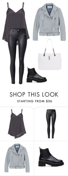 """""""Untitled #246"""" by itsamandarose on Polyvore featuring Alice + Olivia, Acne Studios and Yves Saint Laurent"""