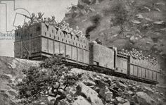 An armoured train in reconnaissance action near Kimberley South Africa during the second Boer War from 'South Africa and the Transvaal War' by Louis Creswicke published 1900 (litho). Us History, African History, Modern History, Family History, Royal Horse Artillery, War Novels, Railroad Pictures, Train Art, My Land