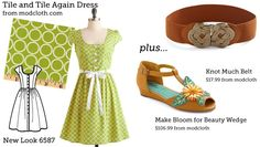 """Cool website - takes cute """"store-bought"""" dresses and suggests pattern and fabric to make a clone. Also suggest accessories."""