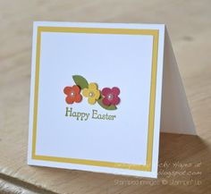Stampin Up ideas and supplies from Vicky at Crafting Clares Paper Moments: Easter bonnets (and a 3 min card)