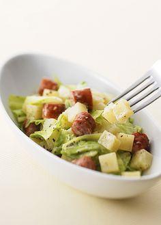 春キャベツとポテトのホットサラダ (レシピNo.1932)|ネスレ バランスレシピ