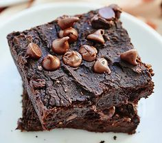 Black Bean Brownies from Show Me The Yummy | Using black beans is a simple way to lighten up this classic treat. And the chocolate chips in this recipe provide an extra fudgy touch.