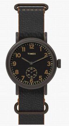 Timex Weekender Sub-Second Black Dial Titanium Case & Strap