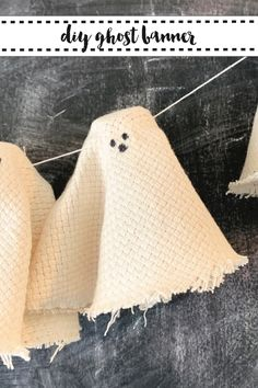 Make this adorable halloween ghost banner in minutes with the easy step by step DIY from Everyday Party Magazine #CraftLightning #HalloweenDecorations #Ghost