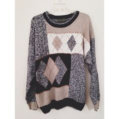 Vintage Oversized Cozy Knit Pullover Sweater