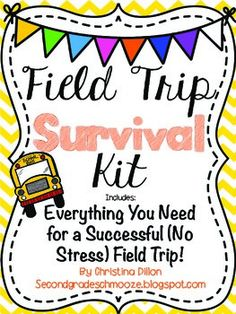 Field Trip Survival Kit {Everything You Need} | by Second Grade Schmooze | $3.50