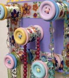 Craft your own jewelry holder | DIY necklace holder | Find craft paint and supplies at Joann.com