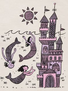 "Mollusk Surf Shop Mermaid Castle tee (Although not sure why it's for ""sea princesses only.""  Why not ""sea princes""?)"