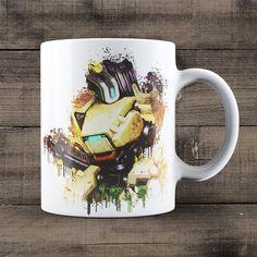 Bastion Overwatch Coffee Mug, Overwatch Game Mug