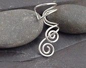 Sterling Silver Spiral EAR CUFF - ENTWINED - From Sunny Skies Studio via etsy.com
