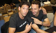 Andrew Lincoln and Jon Bernthal