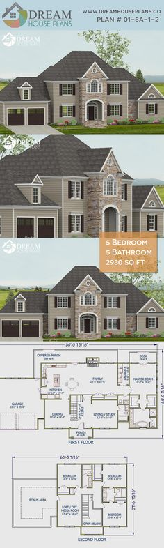 house plan with basement. We custom design of home plans & house blueprints. Choose from our exclusive collection of uniqu Luxury House Plans, Best House Plans, Dream House Plans, House Floor Plans, Porch House Plans, Basement House Plans, Craftsman House Plans, Unique Small House Plans, House Architecture Styles