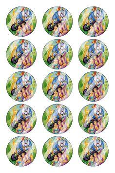 "Aladdin Jasmine Bottle Cap 1"" Circle Images #AJ20 (instant download or pre cut)"
